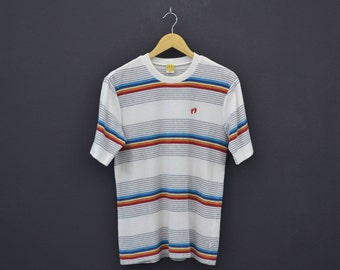Hang Ten Shirt Men Size S/M Vintage Hang Ten T 70s 80s Hang Ten Terry Cloth Vintage Surf Striped T