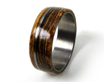 Bocote Ring, Exotic Wood Ring,Titanium Wood Ring,Wood Wedding Ring, Wood Engagement Ring, Grand Junction Guy, Wood Ring Men, Wood Ring Women