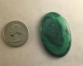 Large AAA Quality Malachite approx. 42.5mm x 38mm