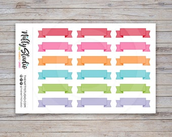 Ribbon Stickers Light | Decorative Stickers | Planner Stickers | The Nifty Studio [154]