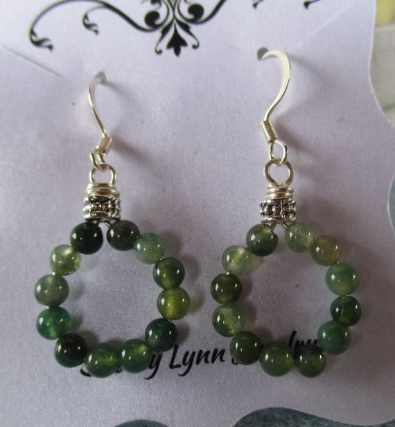 Aventurine Hoop Earrings E1025173