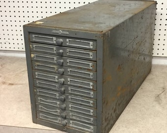 Flat file cabinet etsy industrial 10 drawer globe wernicke steel storage cabinet parts cabinet flat file drawers malvernweather Image collections