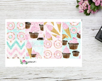 Planner stickers Happy Planner Mini full boxes ice cream