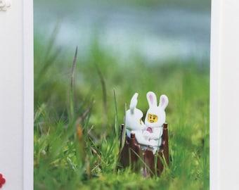 Bunny Love  (blank greeting card)