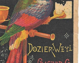 dozideder-weyl cracker co newlady lawnmower Victorian trade card download