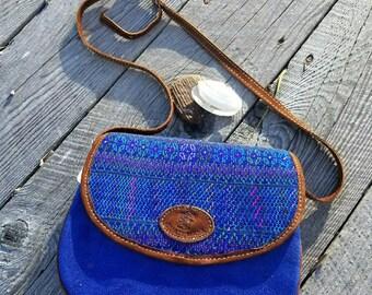 Classic Saddle Bag GBP9/Bag/Purse/Gift/Saddle Bag/Embroidery/Handmade Purse/Blue Purse