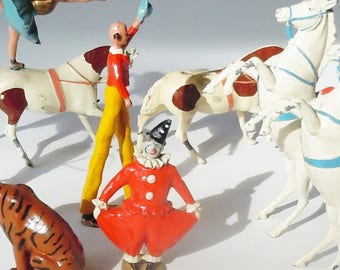 Circus Toy from a Toy Soldier Company / Britains' Ltd London / Very Old Authentic Original Diminutive Toys