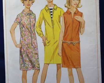 Vintage Sewing Pattern for a 1960's Dress in Size 14 - Simplicity 6864