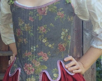 NEW!!! 18th Century corset/stays. Linen. Hand finished. EU36- small 38