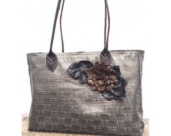 Leather tote bag/ Large shopper bag/ Leather handbag / Unique Leather Tote /Large Shopper Leather Bag / Brown Tote Bag /Leather Tote Purse