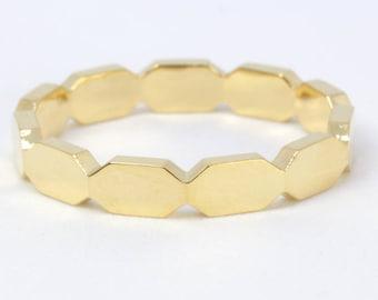 Gold band, Gold wedding ring, Unisex Wedding Band, Gold Wedding Ring, Promise Ring, Modern Ring, gold stacking ring, unisex b