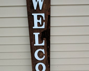 Custom wood sign - Repurposed wood - Welcome sign - Front door sign - Porch sign - Large welcome sign - Wood welcome sign