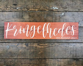 Family Name Wood Sign, Personalized Family Name Sign, Last Name Established Sign Wood, Last Name Sign Wood, Rustic Last Name Sign