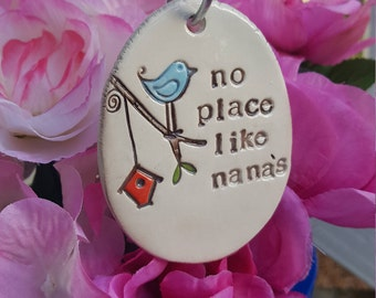 My favorite little Plant Marker - no place like nana's, garden decor, plant stake, Mother's Day Gift, Valentine