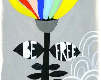 Inspirational Wall Art, Colorful Kids Prints, Rainbow Art Print, Flower Art, Children's Bedroom Decor, Whimsical Wall Art, Floral Art