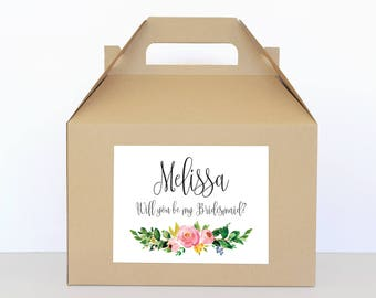 Bridesmaid Proposal Box Will You Be My Bridesmaid Box Bridesmaid Proposal Gift Will You Be My Bridesmaid Gift Box - Bridal Party Gift