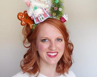 ugly christmas sweater headband, christmas headband adult, gingerbread headband, tacky sweater party, for women, holiday headband adult