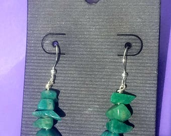 Amazonite and silver earings (E-2)