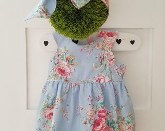 Baby Girls Floral Romper-sizes 0 to 3T-Toddler Romper- Tea Party Romper- Birthday Romper-1st Birthday outfit-Girls smash cake outfit