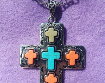 Cross Made Of Multiple Crosses