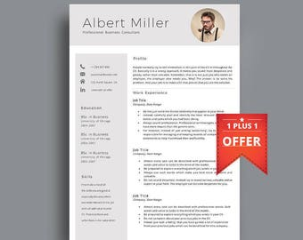 Resume Template, Professional Resume Template, CV With Photo. Professional CV Template. 1,2,3,4 Page Resume With Photo, Modern Resume.