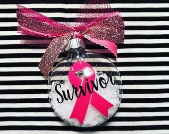 Survivor Glass Christmas Tree Ornament