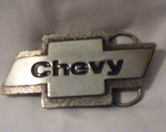 Vintage Chevy Emblem Belt Buckle 1980