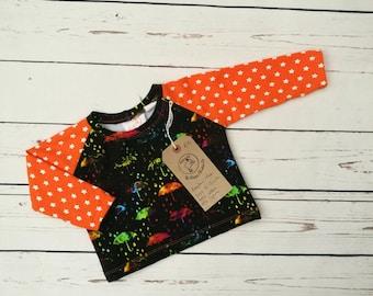 Handmade Unisex rainbow umbrella t-shirt age 6-12 mths