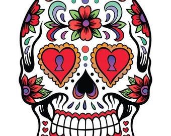Sugar Skull Cross Stitch Pattern pop art cross stitch Krosssaumur jahitan silang 138 x 197 stitches INSTANT Download - B685