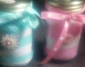 Luxury lavender or perky peppermint bath salts.