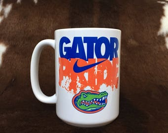 College mug, Gator Pride, Florida mug, gift item, funny mug, super hero mug, gift for her, teacher gift