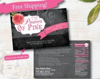 plexus sample postcard - Cabbage Rose - Free Shipping