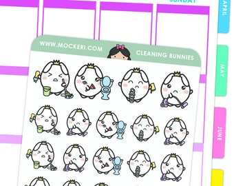 Cleaning Bunnies / Planner Stickers