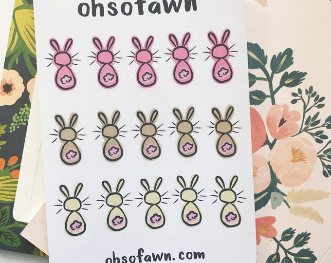 Hand Drawn Bunny Stickers
