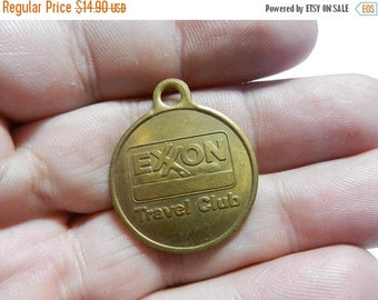 Summer Sale Vintage Exon Oil Travel Club Medal