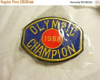 Summer Sale Vintage 1988 Olympic Champion Patch