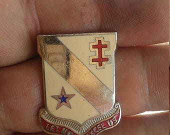 Easter Sale Vintage 7th S & T Battalion Unit Crest Insignia