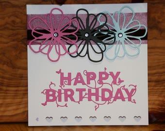 Hand made Happy Birthday card.