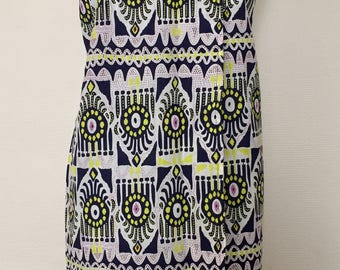Dress in African print fabric