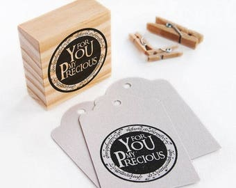 SALE lord of the rings party favors, polymer stamp, gollum, you are my precious, my precious, for you my precious, the one ring, the hobbit