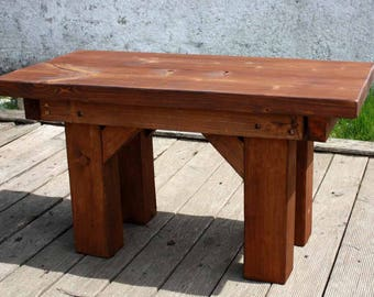 Grandma Coffee Table Table wooden table living room table Winter Garden table solid wood Brown Rustic Rustic house vintage style handmade