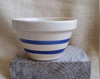 "Ransbottom Stoneware Bowl Roseville Ohio 6"" Stoneware Mixing Bowl Ransbottom Pottery Bowl Ohio Pottery Vintage Ransbottom Bowl"