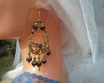 Earrings chandeliers (HAUTE COUTURE)