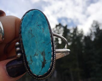 Natural Nevada Turquoise Cuff