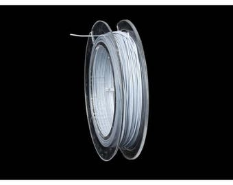 10 m crinelle wire 0.45 mm white