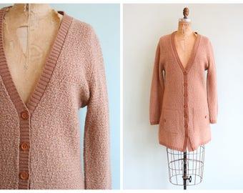 Vintage 1960's Long Knit Cardigan | Size Medium