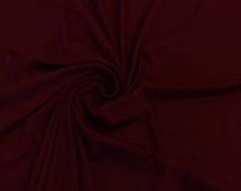 "Burgundy Cotton Jersey Lycra Spandex Knit Stretch Fabric 58/60"" wide All colors"