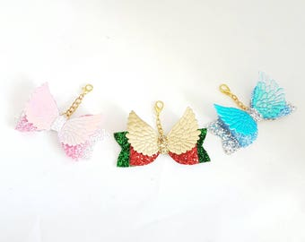 Glitter bow wing charms, tn bow charm, planner charm, glitter bow charm, gaurdian angel planner charm, bag charm, book charm, guardian charm