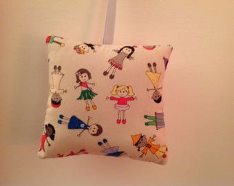 "Mobile Coussinou deco blanket."" and if all the children of the world were hand"""