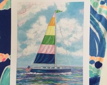 Pastel Sailboat print